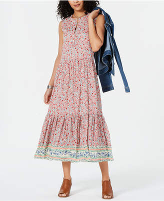 4af1aa6828 Style Co. Style   Co Petite Printed Tiered Maxi Dress