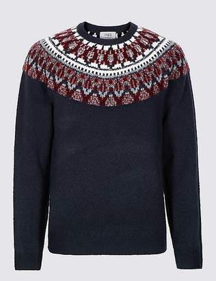 Marks and Spencer Cosy Christmas Fairisle Jumper