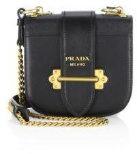 pradaPrada Pionniere Leather Saddle Bag
