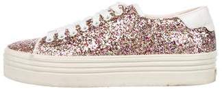 Saint Laurent Sequin Low-Top Sneakers