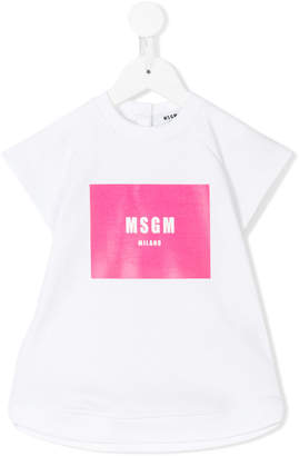 MSGM logo print dress