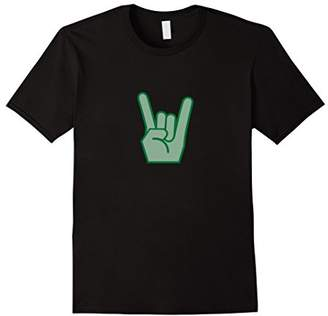Classic 80's Rock Flash the Horns Hand Music Metal T-Shirt