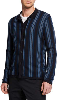 Vince Men's Striped Sweater Shirt
