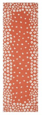 Bungalow Rose Albata Printed Handwoven Cotton Coral/White Indoor Area Rug
