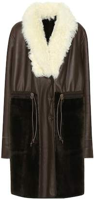 Chloé Reversible lamb fur leather coat