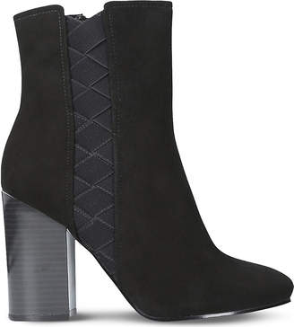 Nine West Ladies Black Carensa Suede Ankle Boots