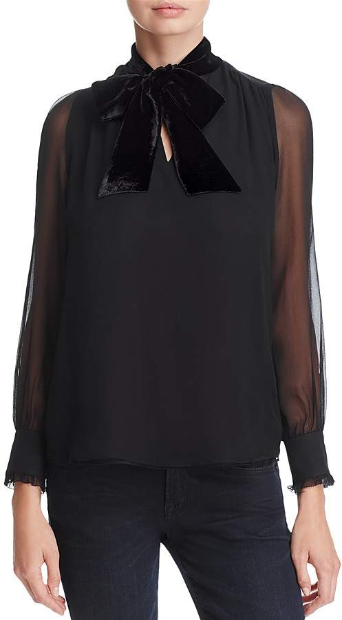 kate spade new york Velvet-Bow Blouse