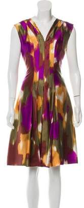 Oscar de la Renta Silk Printed Dress