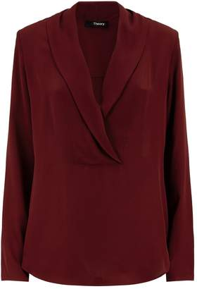 Theory Shawl Collar Blouse