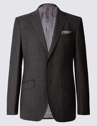 Marks and Spencer Textured Regular Fit Wool Jacket