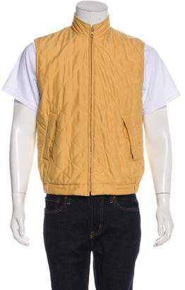 Loro Piana Quilted Woven Vest