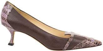 Manolo Blahnik Brown Water snake Heels