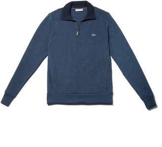 Lacoste Men's Flat Ribbed Zippered Stand-Up Collar Sweatshirt