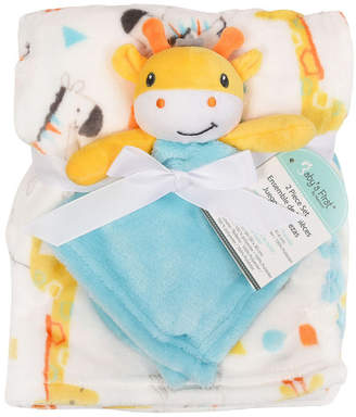 Baby First by Nemcor 2-Piece Blanket Buddy Set, Giraffe