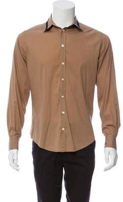 Dolce & Gabbana Stripe Accent Button-Up Shirt
