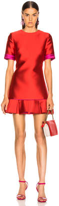 Brandon Maxwell Ruffle Hem Dress in Poppy | FWRD