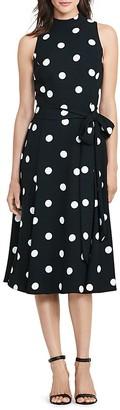 Lauren Ralph Lauren Petites Polka-Dot Dress $175 thestylecure.com