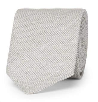 HUGO BOSS 6cm Virgin Wool and Linen-Blend Tie - Men - Cream