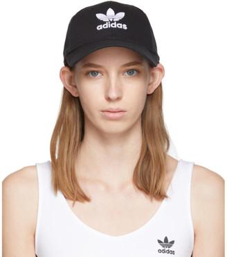 adidas Black Trefoil Logo Cap