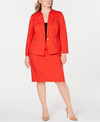 b3f1409c7 Le Suit Plus Size Zippered-Pocket Skirt Suit