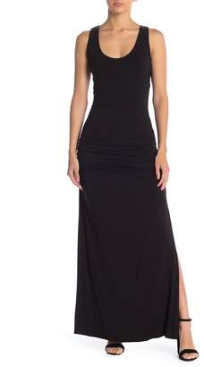 Sky Sadeo Beaded Ruched Back Maxi Dress