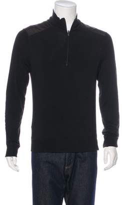 Theory Woven Zip-Up Sweater