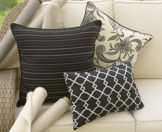 Coal Stripe Accent Pillow