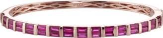 Shay Jewelry Baguette Ruby Bangle Bracelet