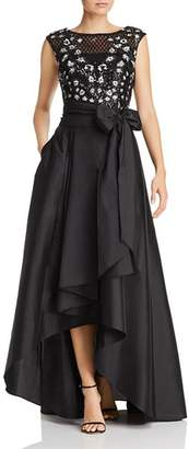 Adrianna Papell Embellished Taffeta Gown