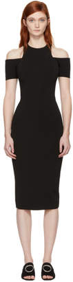 Victoria Beckham Black Fitted Cut-Out Dress