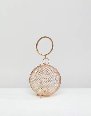 Asos Design DESIGN cage sphere clutch bag