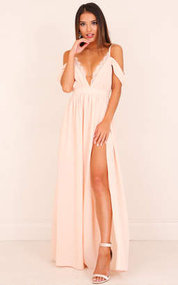 Showpo Sweet Moment maxi dress in blush - 14 (XL) Formal Dresses