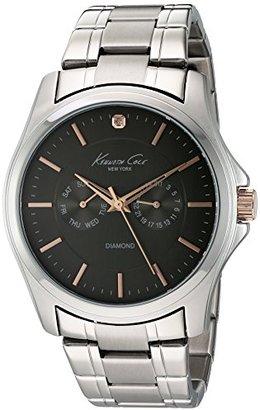 Kenneth Cole New York Men 's 10022311純正diamond- Rock Out Analog Display Japanese Quartz Silver Watch