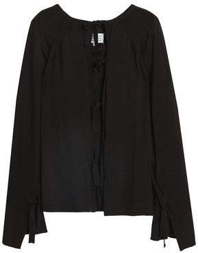 Maison Margiela Lace-Up Wool And Silk-Blend Sweater