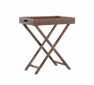 Pottery Barn Abrego All-Weather Wicker Tray Side Table