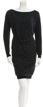 Lanvin Wool Patterned Dress