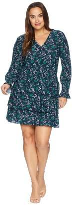 MICHAEL Michael Kors Size Boho Flare Multi Tier Dress Women's Dress