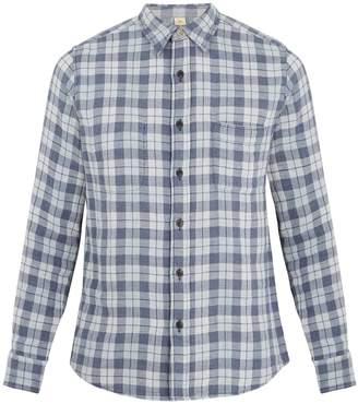 Faherty Reversible Belmar checked cotton shirt