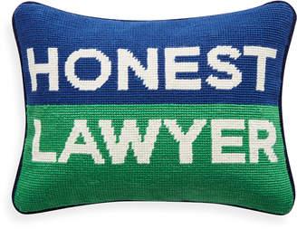 Jonathan Adler Honest Lawyer Needlepoint Pillow