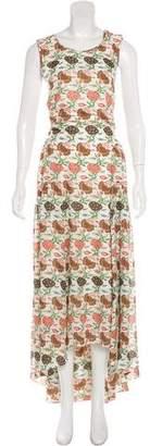 Tory Burch Silk Floral Print Dress