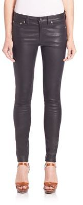 Polo Ralph Lauren Stretch-Leather Skinny Pants $998 thestylecure.com