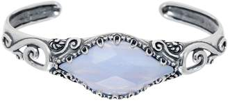 Carolyn Pollack Sterling Silver Faceted Blue Lace Agate Cuff Bracelet
