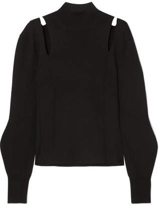 Chloé Cutout Wool Turtleneck Sweater - Black