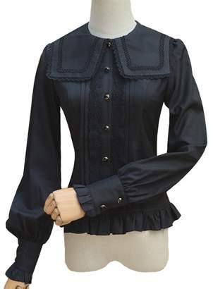 507d8ebc70676 Smiling Angel Women Lolita Lace Shirt Retro Victorian Blouse