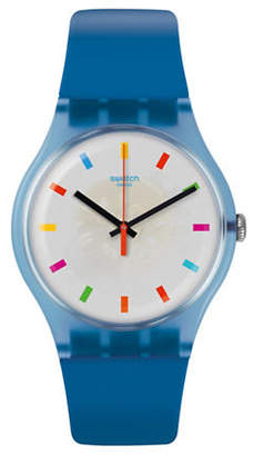 Swatch Colour Studio Collection Blue Silicone Strap Watch