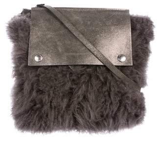 Brunello Cucinelli Shearling Crossbody Bag