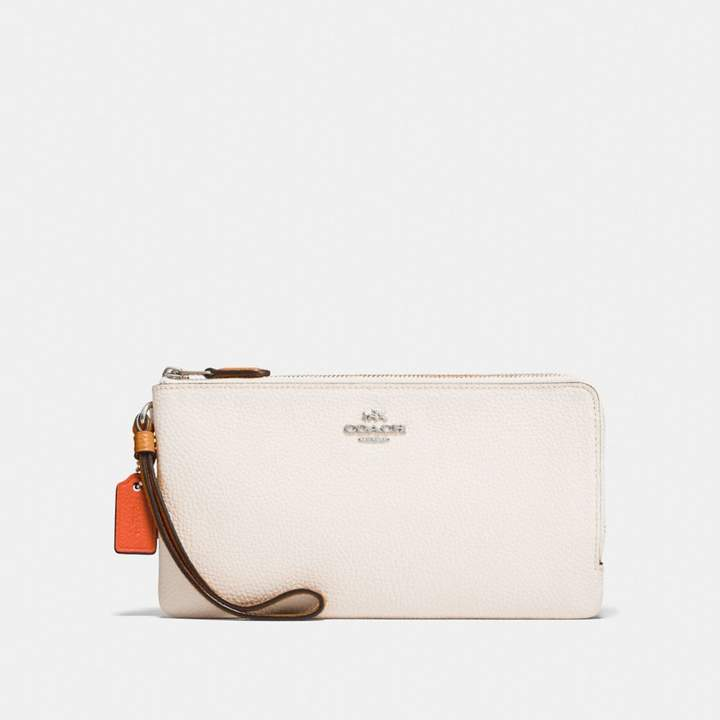 Coach New YorkCoach Double Zip Wallet In Colorblock - CHALK MULTI/SILVER - STYLE