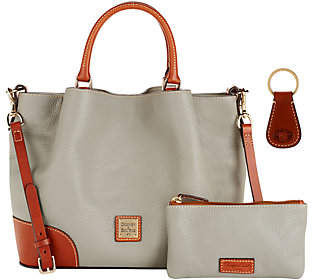 Dooney & Bourke Pebble Leather Brenna Satchel with Accessories $296.98 thestylecure.com
