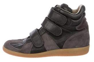 Maison Margiela High-Top Suede Sneakers