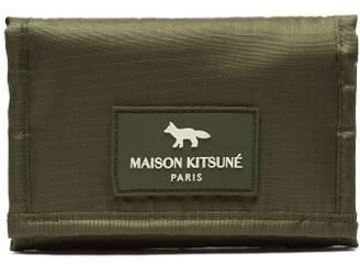 MAISON KITSUNÉ Logo Patch Velcro Wallet - Mens - Khaki